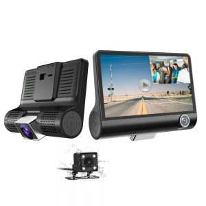 Parking mode car dash cam with night vision