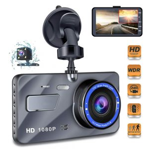4.0 inch IPS Screen Dual Wide Angle Lens Car Dash Cam